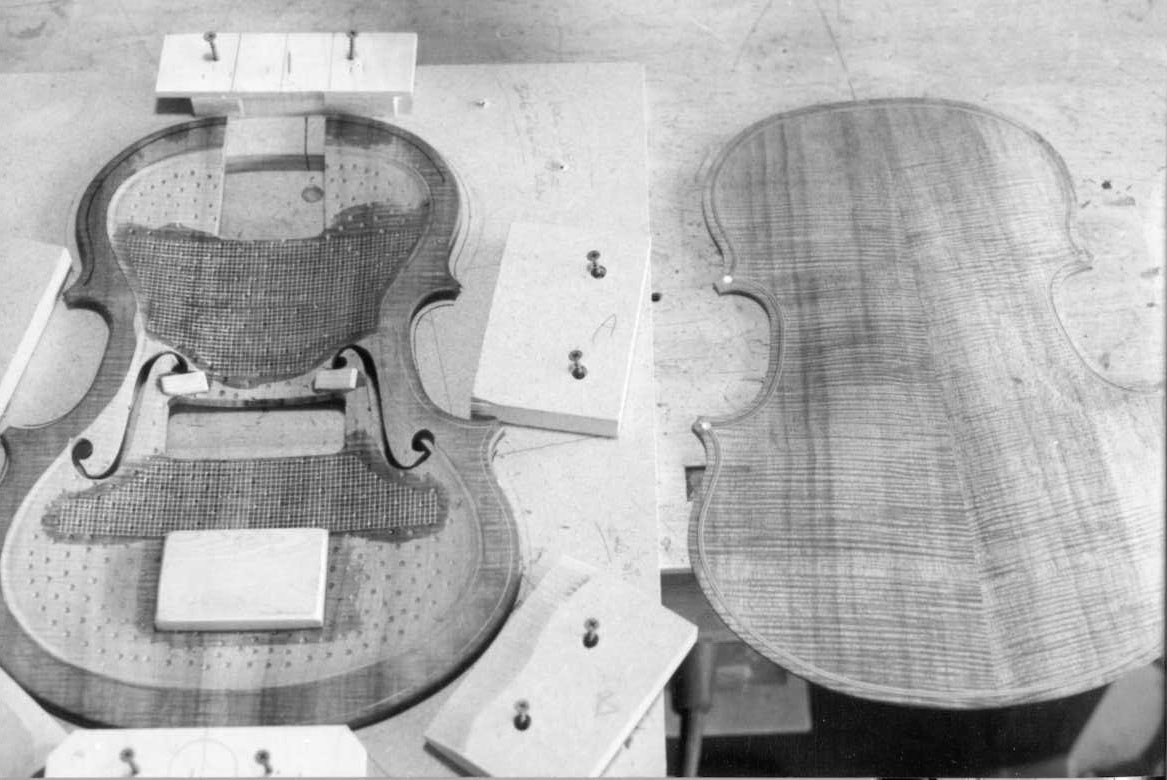 Violin Bass Top and Back PLates